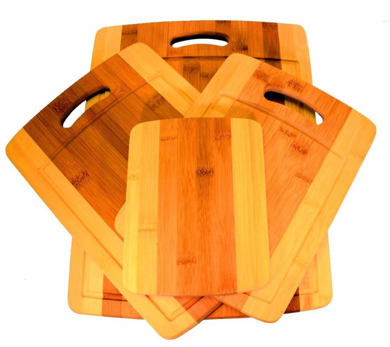 4-piece Bamboo Cutting Board Set: Four Convenient Wood Sizes