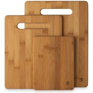 Totally Bamboo 3 Piece Bamboo Cutting Board Set Wood Cutting Boards