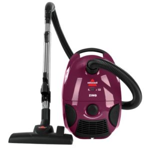 BISSELL Zing Bagged Canister Vacuum, Purple