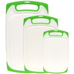 Dutis 3-Piece Dishwasher Safe Plastic Cutting Board Set
