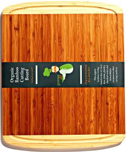 100% ORGANIC Bamboo Cutting Board -Don't Risk Poor Health From Toxins