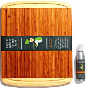 Bamboo Cutting Board and Oil Set