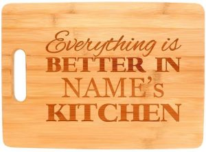 Custom Cooking Gift Enter Name Better Kitchen Personalized Big Rectangle