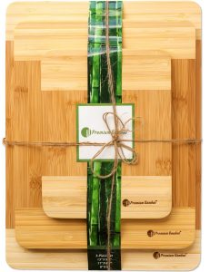 Extra Thick Eco-Friendly Bamboo Cutting Board Set