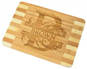 Personalized / Custom Engraved Bamboo Wood Cutting Board