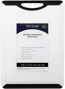 Vettore Non Slip Poly Cutting Board With Juice Groove Dishwasher Safe