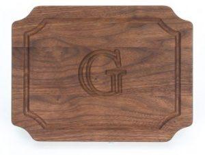 BigWood Boards W300-G Cutting Board, Monogrammed Wedding Gift Cutting Board