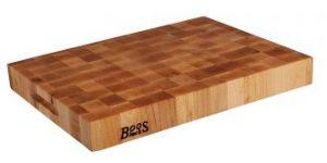 John Boos Maple Wood End Grain Reversible Butcher Block Cutting Board