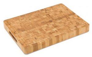 Large End Grain Bamboo Cutting Board | Professional, Antibacterial Butcher Block