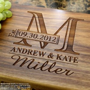 Monogram Personalized Engraved Cutting Board
