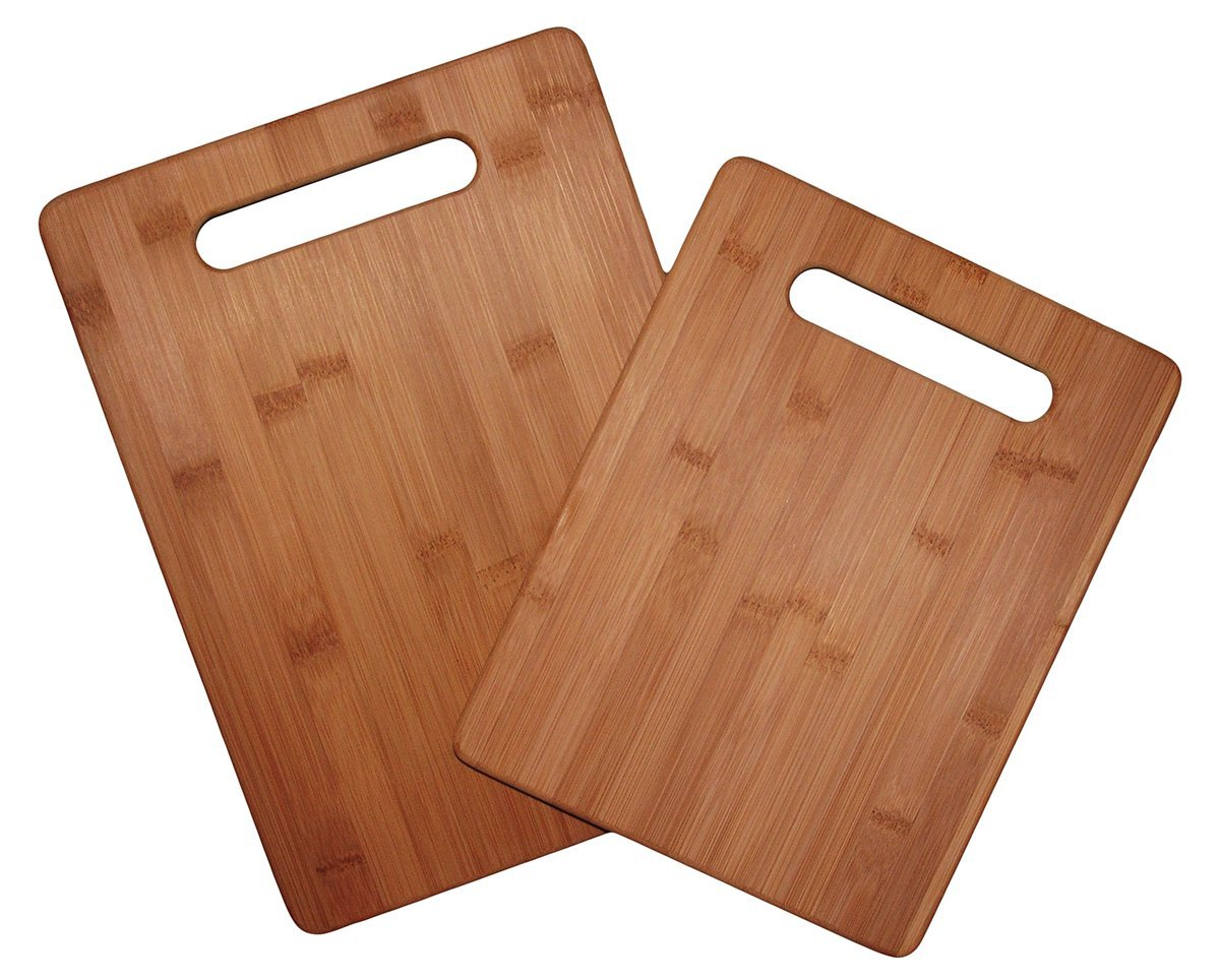 Totally Bamboo 2 Piece Cutting Board Set, 100% Bamboo For Food Prep
