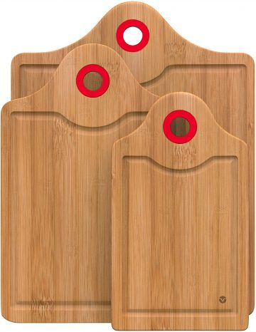 Vremi 3 Piece Bamboo Cutting Board Set