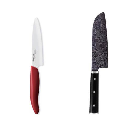 Ceramic knife white vs black blade