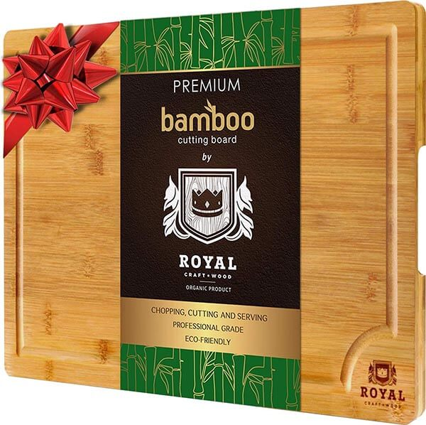 Extra Large Organic Bamboo Cutting Board by Royal