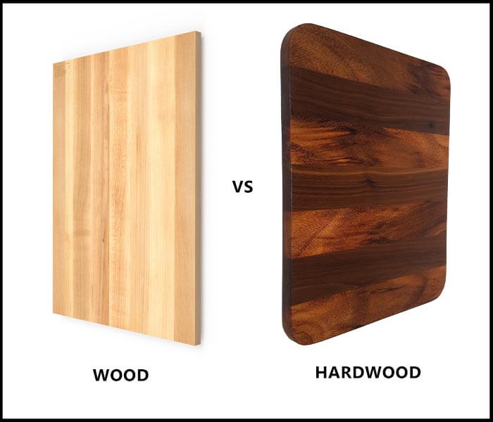 Wood vs hardwood cutting board