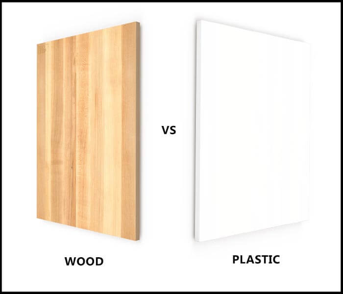wood vs plastic cutting board