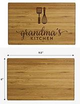 Andaz Press Laser Engraved Small Bamboo Wood Cutting Board