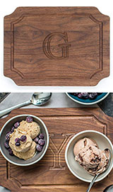BigWood Boards W300-G Cutting Board, Monogrammed Wedding Gift Cutting Board