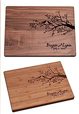 Personalized Cutting Board - Birds on a Branch