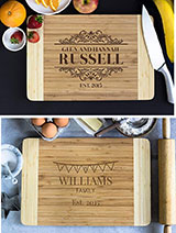 Personalized Cutting Board- Elegant Family Name
