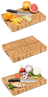 Large End Grain Bamboo Cutting Board