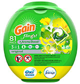 Gain flings! Liquid Laundry Detergent Pacs