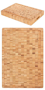 "Heim Concept 1PC Premium Large [17"" x 12"" x 2""] Organic Bamboo Butcher Block Chopping Board Cutting Board"