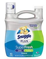 Snuggle Plus Super Fresh Liquid Fabric Softener with Odor Eliminating Technology