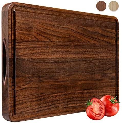 AZRHOM Cheese Charcuterie Walnut Cutting Board
