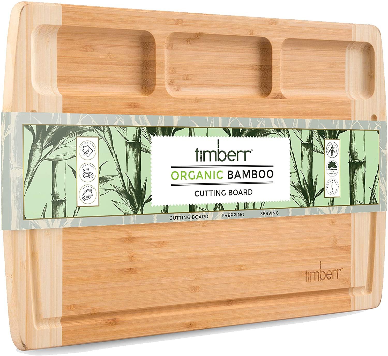 Timberr Large Organic Bamboo Cutting Board