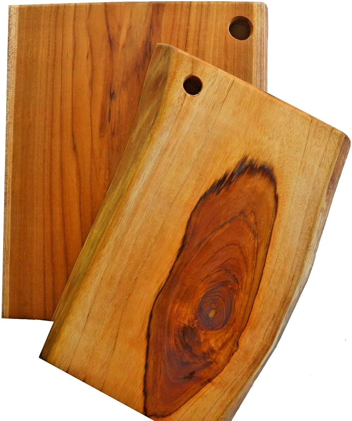 Ecowood Costa Rica Teak Wood Cutting Board for Kitchen