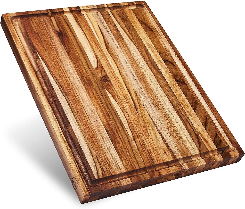 Large Reversible Teak Wood Cutting Board by Sonder, Los Angeles