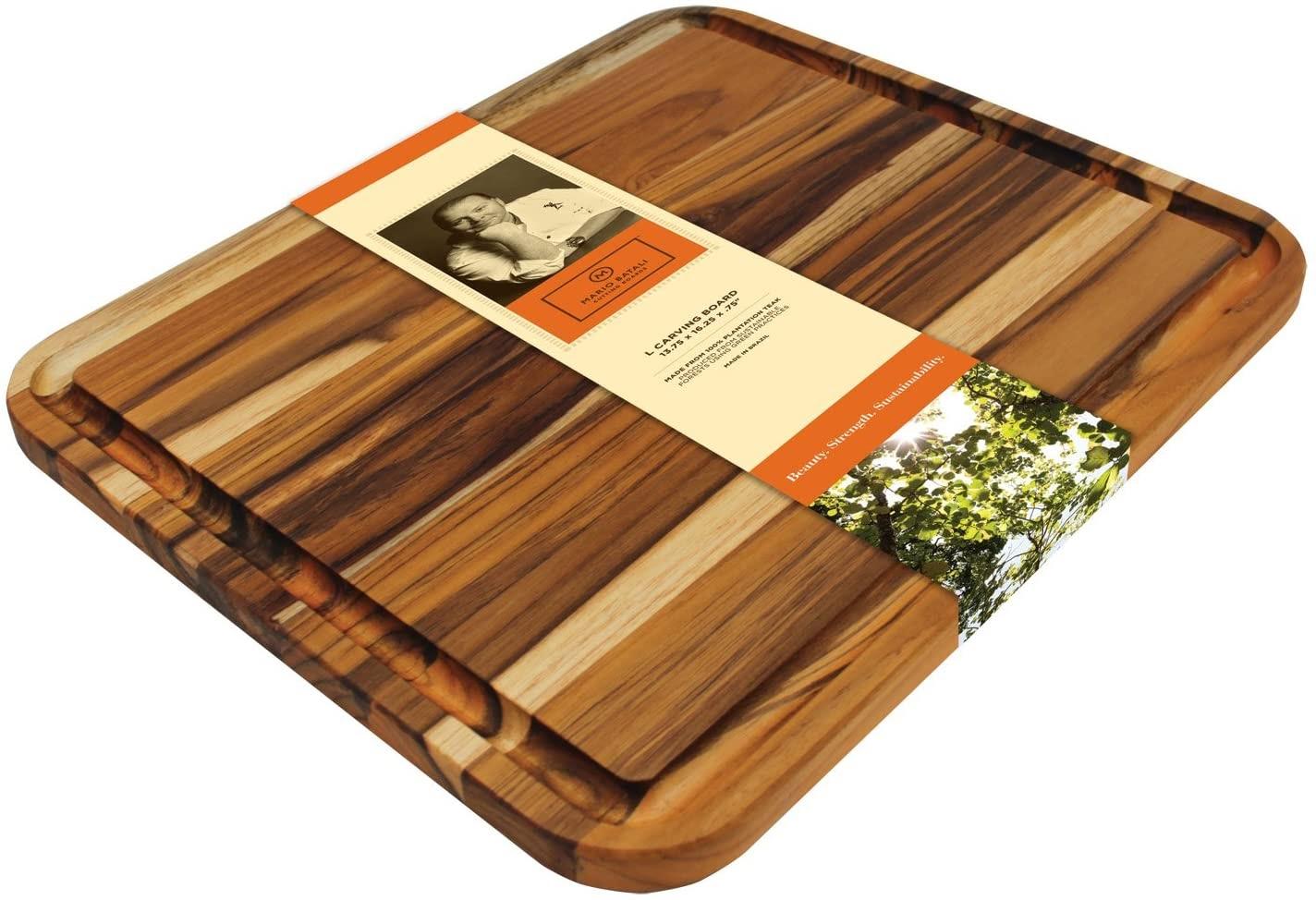 Madeira Mario Batali M-04 Edge Grain Teak Carving Board