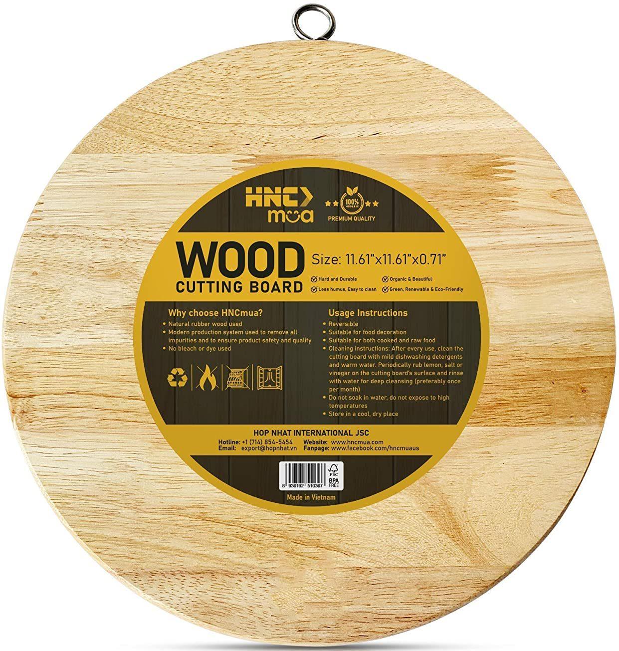 HNCmua Round Wood Cutting Board