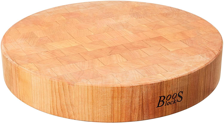 John Boos Block CHY-CCB183-R Classic Collection Cherry Wood End Grain Round Chopping Block